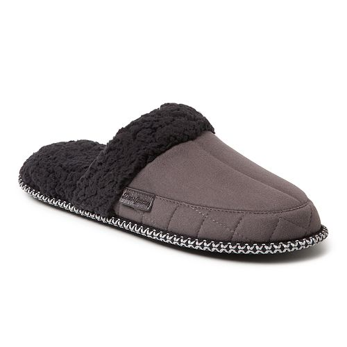 Men's Dearfoams Microsuede Quilted Scuff Slippers