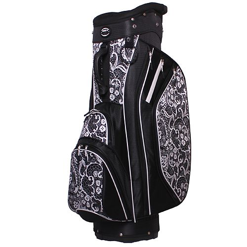 Hot-Z 2017 Women's 3.5 Cart Golf Bag - Black Lace