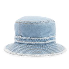 Women's Distressed Denim Bucket Hat