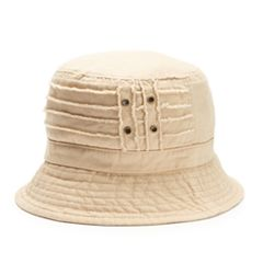 Women's Distressed Cotton Bucket Hat