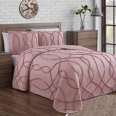 Sonora Ruffle Stitch 3-piece Quilt Set
