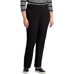 Plus Size Chaps Four-Way Stretch Mid-Rise Pants