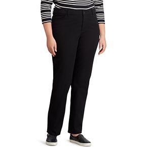 Plus Size Chaps® Solid Straight Fit Pants