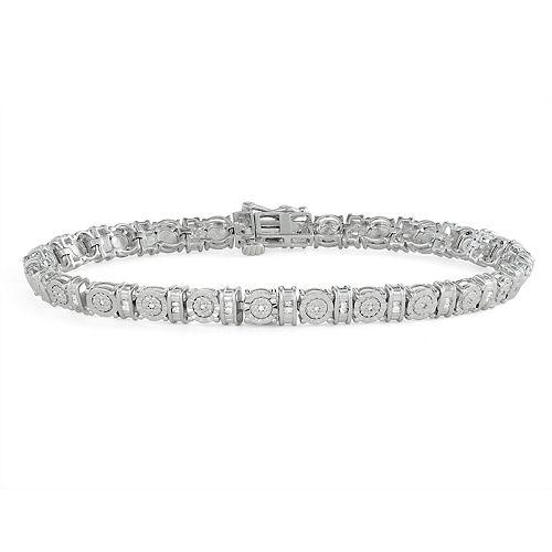 Sterling Silver 1/4 Carat T.W. Diamond Bracelet