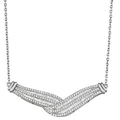 Sterling Silver 1 Carat T.W. Diamond Twist Necklace