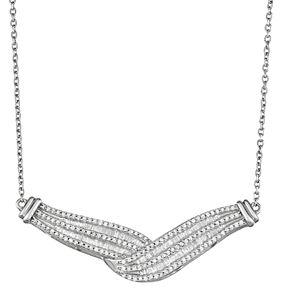 Sterling Silver 1 Carat T.W. Diamond Twist Necklace