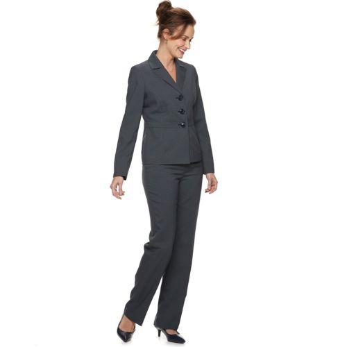 Women S Le Suit Notch Collar 3 Button Jacket Pant Suit