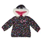 Baby Girl Skechers Heart Print Heavyweight Puffer Jacket