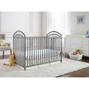 LA Baby The Mariposa 3-in-1 Metal Crib