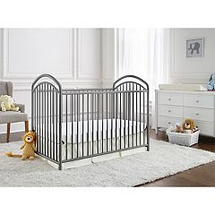 LA Baby The Mariposa 3-in-1 Metal Crib