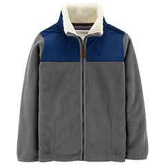 Boys 4-12 Carter's Sherpa Mock Neck Fleece Zip Jacket