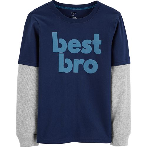 "Boys 4-12 Carter's ""Best Bro"" Thermal Mock Later Graphic Tee"