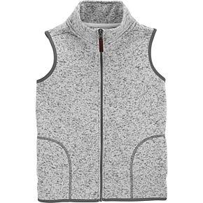 Boys 4-12 Carter's Sweater Knit Fleece Zip Vest