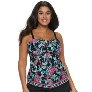 Plus Size Apt. 9® V-Hem Bandeaukini Top