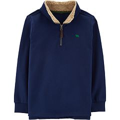 Boys 4-12 Carter's Sherpa 1/4 Zip Pullover Sweater