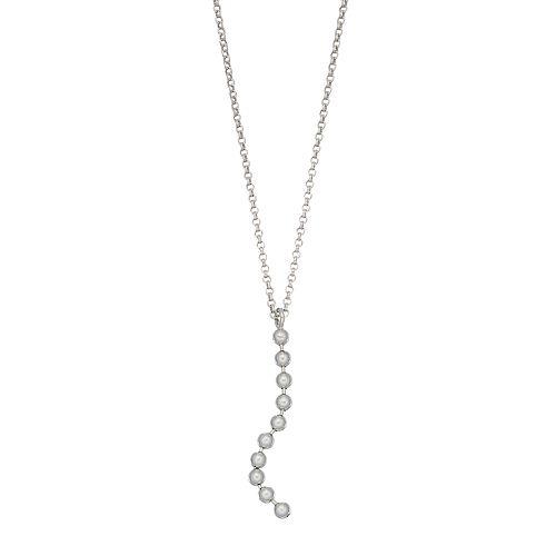 Always Radiant Sterling Silver Bead Twist Y Necklace