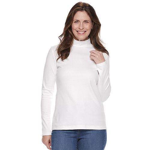 Women's Croft & Barrow® Classic Mockneck Top