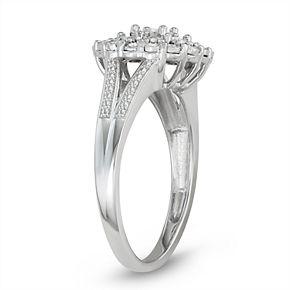 Sterling Silver 1/4 Carat T. W. Diamond Ring