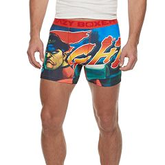 Men's Crazy Boxer Street Fighter Novelty Briefs