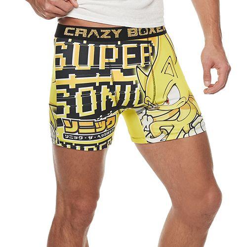 Men's Crazy Boxer Sonic The Hedgehog Novelty Boxer Briefs