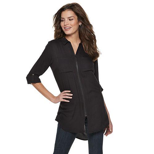 Women's Rock & Republic® Zip-Front Tunic