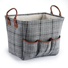 Soho Market Plaid Storage bin