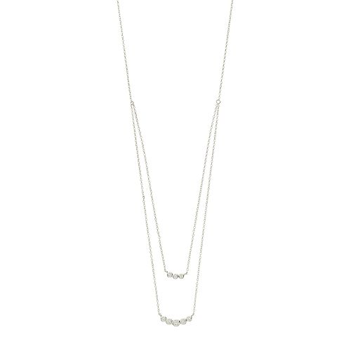 Always Radiant Sterling Silver Cubic Zirconia Double Strand Necklace