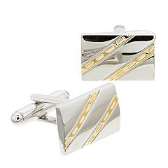 Men's Croft & Barrow® Diagonal Cuff Links