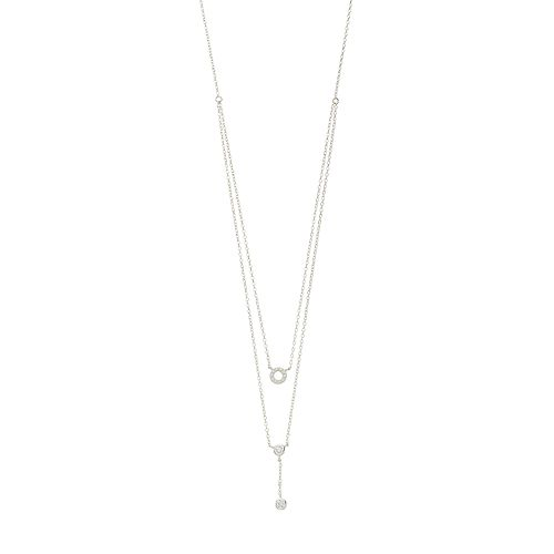 Always Radiant Sterling Silver Cubic Zirconia Double Y Necklace