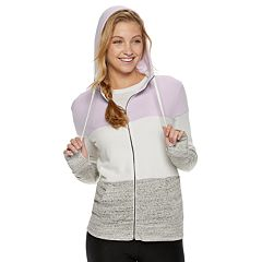 Juniors' SO® Colorblock Zip-Up Hoodie