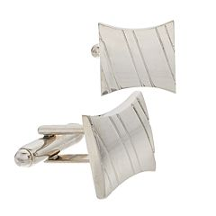 Men's Croft & Barrow® Fitz Silver-Tone Cuff Links