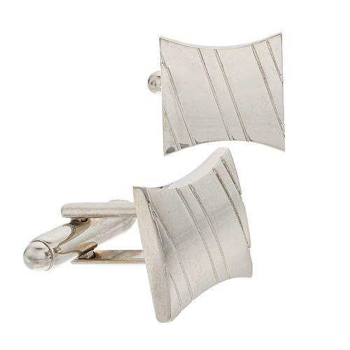 Men's Croft & Barrow® Fitz Silver-Tone Cuff Links