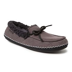 Men's Dearfoams Quilted Microsuede Moccasin Slippers