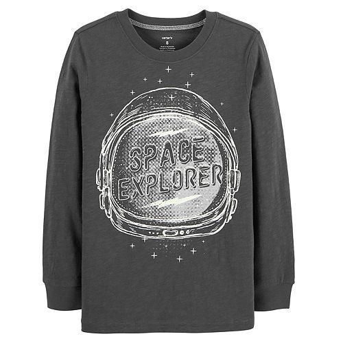 "Boys 4-12 Carter's  ""Space Explorer"" Glow in the Dark Graphic Tee"