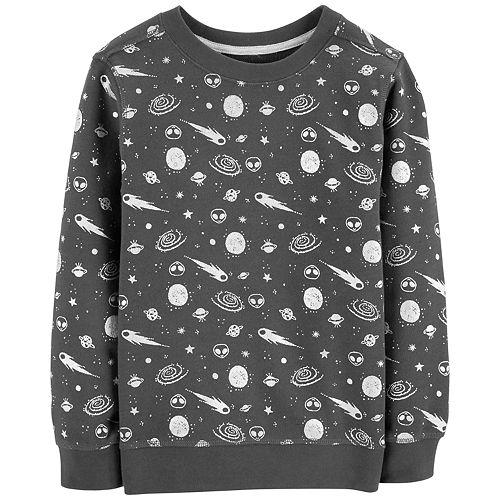 Boys 4-12 Carter's Space Print Pullover Sweatshirt