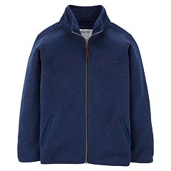Boys 4-12 Carter's Sweater Knit Lightweight Zip Jacket
