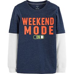 Boys 4-12 Carter's 'Weekend Mode' Mock Layer Graphic Tee