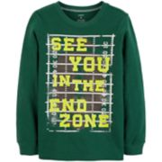 """Boys 4-12 Carter's """"See You In The End Zone"""" Football Graphic Tee"""