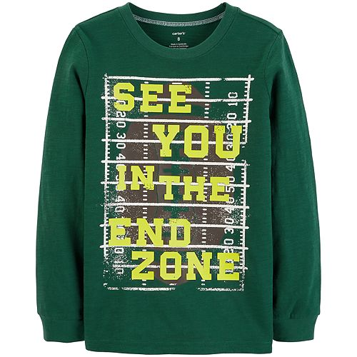 "Boys 4-12 Carter's ""See You In The End Zone"" Football Graphic Tee"