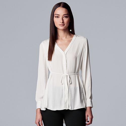 Women's Simply Vera Vera Wang Crepe Tunic Shirt