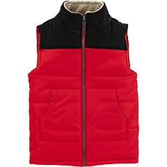 Boys 4-12 Carter's Quilted Colorblock Zip Vest