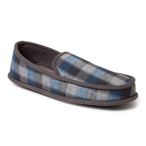 Men's Dearfoams Plaid Moccasin Slippers