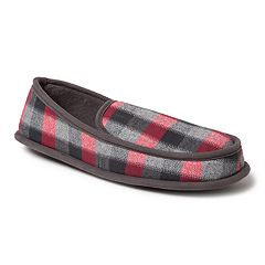 Men's Dearfoams Plaid Moccasin Slippers