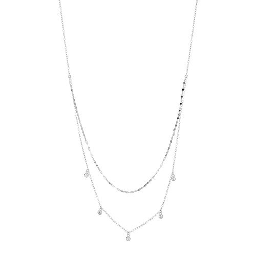 Always Radiant Cubic Zirconia Double Strand Necklace