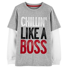 Boys 4-12 Carter's 'Chillin' Like A Boss' Mock Layer Graphic Tee