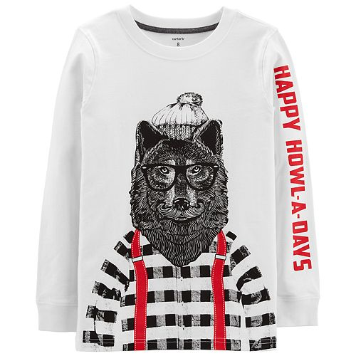 "Boys 4-12 Carter's Wolf ""Happy Howl-A-Days"" Graphic Tee"
