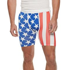 Men's Wear Your Life American Flag Novelty Boxers