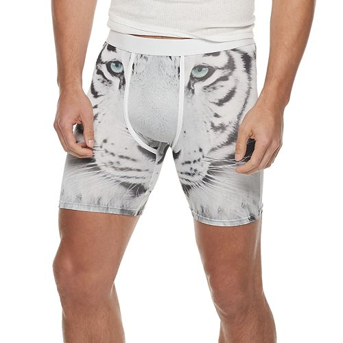 Men's Wear Your Life White Tiger Novelty Boxers