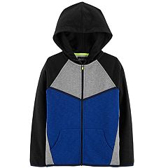 Boys 4-12 OshKosh B'gosh® French Terry Colorblock Zip Hoodie
