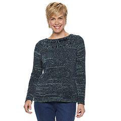 Women's Croft & Barrow® Chenille Boatneck Sweater